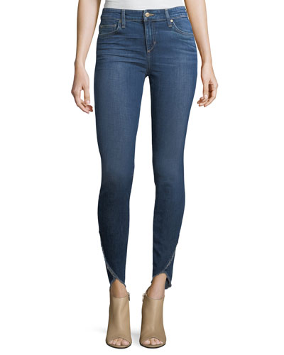 The Icon Skinny-Leg Ankle Jeans w/ Tulip Hem