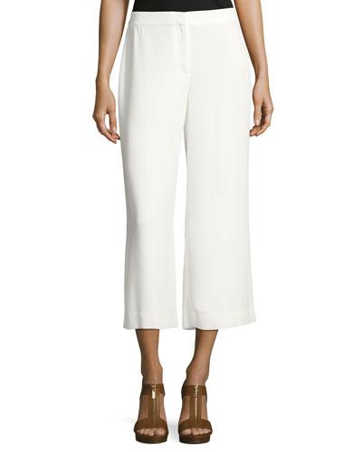 High-Waist Front-Zip Culottes