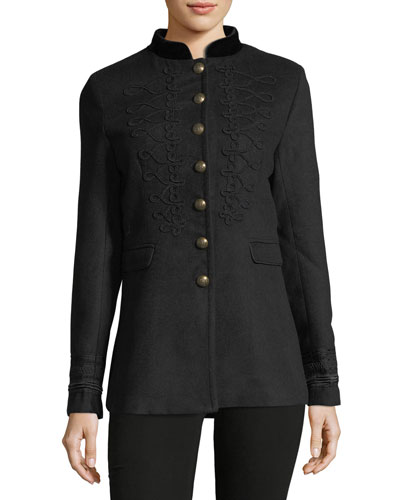 Embellished Military Jacket