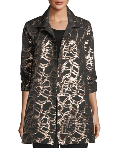 Pop the Cork Jacquard Party Jacket, Plus Size
