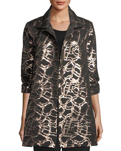 Pop the Cork Jacquard Party Jacket, Plus Size
