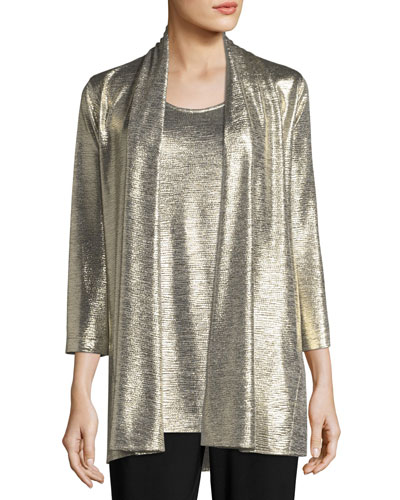 Reflection Knit Metallic Easy Cardigan, Petite