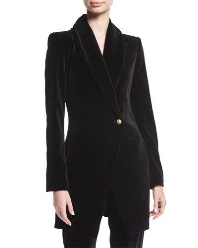 Vance Crossover Sueded Long Coat