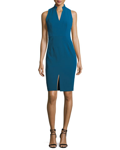 Antoinette Sleeveless Stretch Crepe Sheath Dress