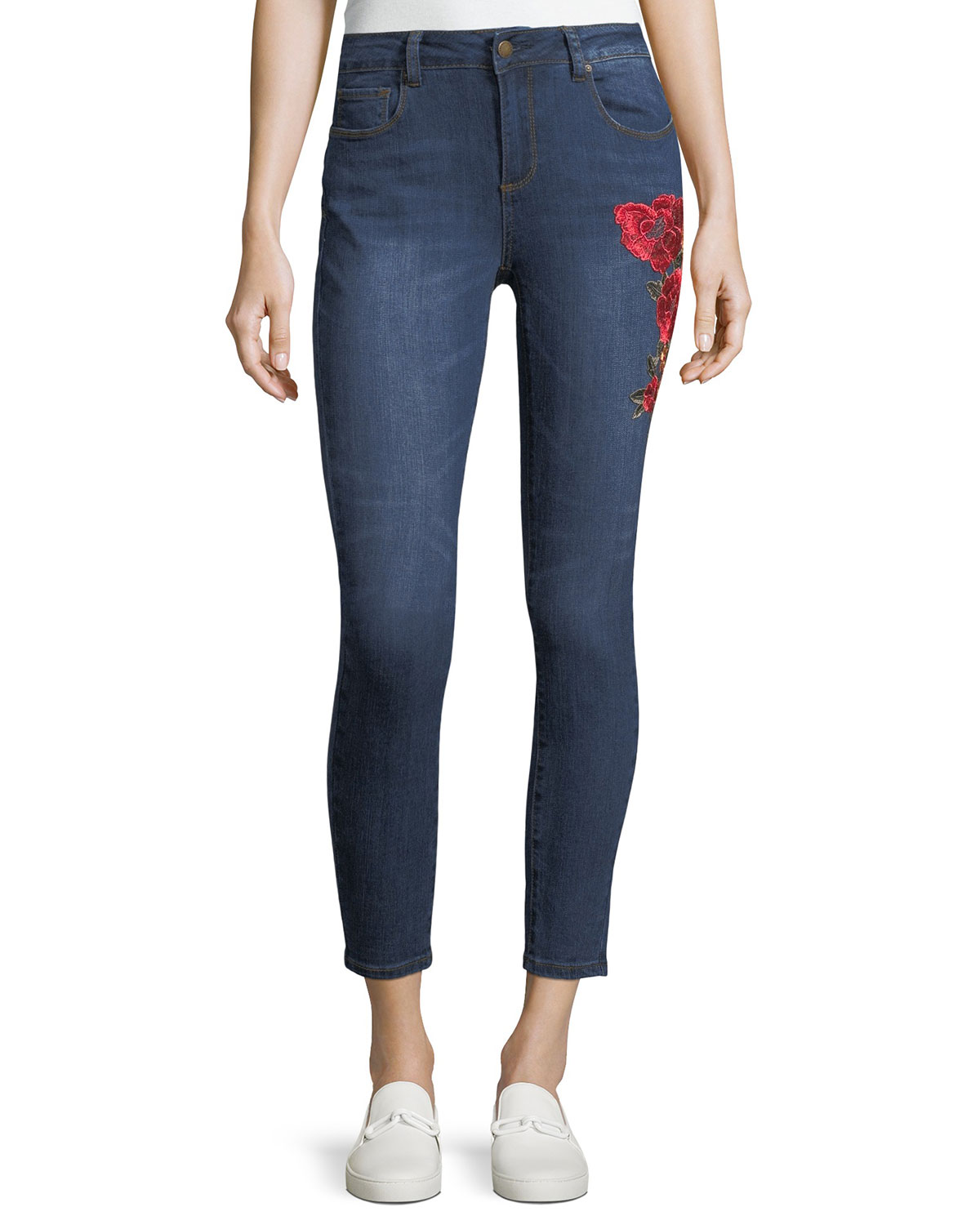 Elsie Embroidered Skinny Jeans