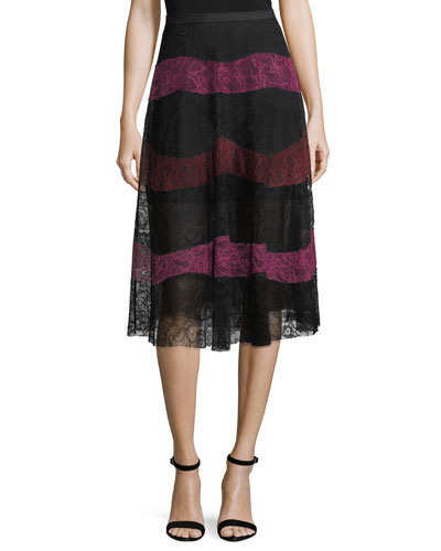 Verma A-Line Midi Lace Skirt