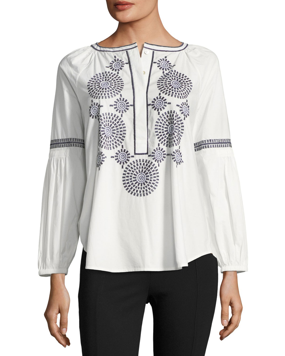 Aubrey Embroidered Poplin Tunic