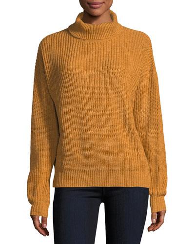 Alexa Cowl-Neck Ribbed Sweater