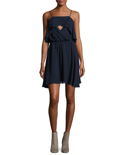 Sunbird Crossover Front Silk Camisole Dress