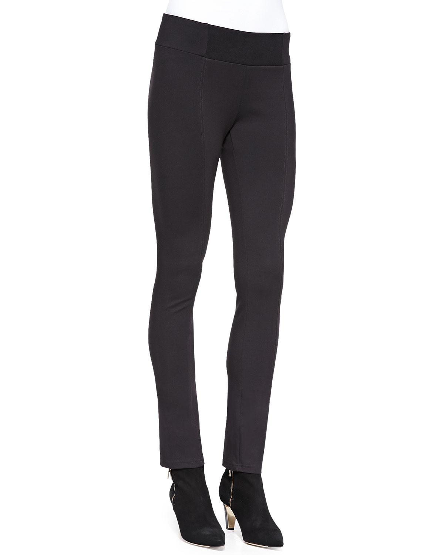 Heavyweight Rayon Knit Skinny Pants, Plus Size