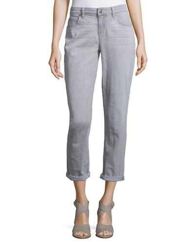 Stretch Organic Cotton Boyfriend Jeans