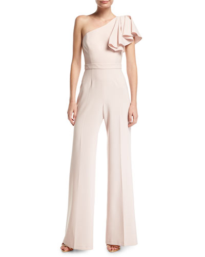Hamilton One-Shoulder Wide-Leg Jumpsuit