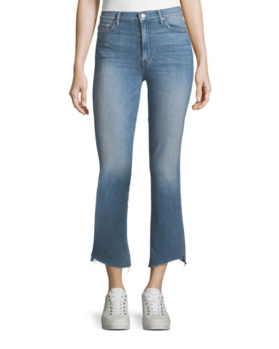 Insider Crop Frayed Step-Hem Cropped Jeans