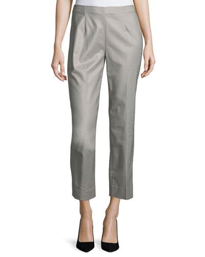 Perfect Side-Zip Crop Pants