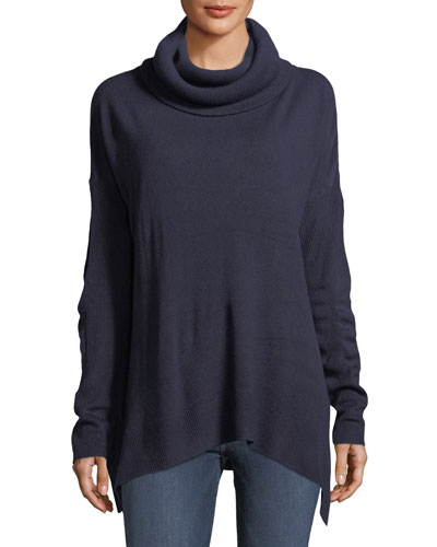 Cowl-Neck Tunic Sweater