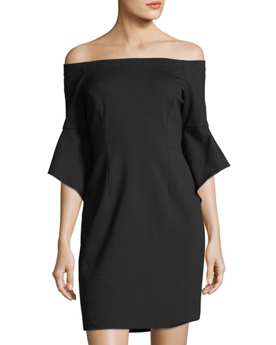Ponte Off-the-Shoulder Dress