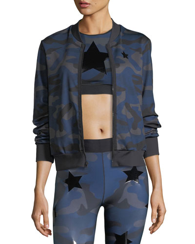Ultracor Camo Knockout Zip-Front Bomber Jacket w/ Star