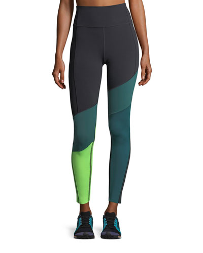 Under Armour Mirror BreatheLux Asymmetric High - Rise Performance Leggings