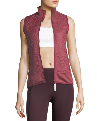 Quilted Zip-Front Running Vest