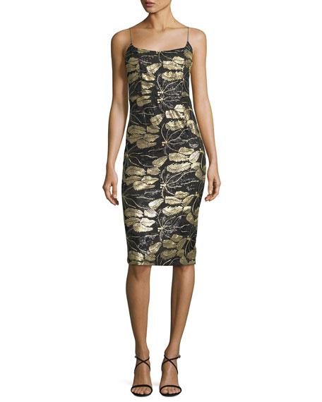 Mestiza New York Sleeveless Beaded Cocktail Sheath Dress