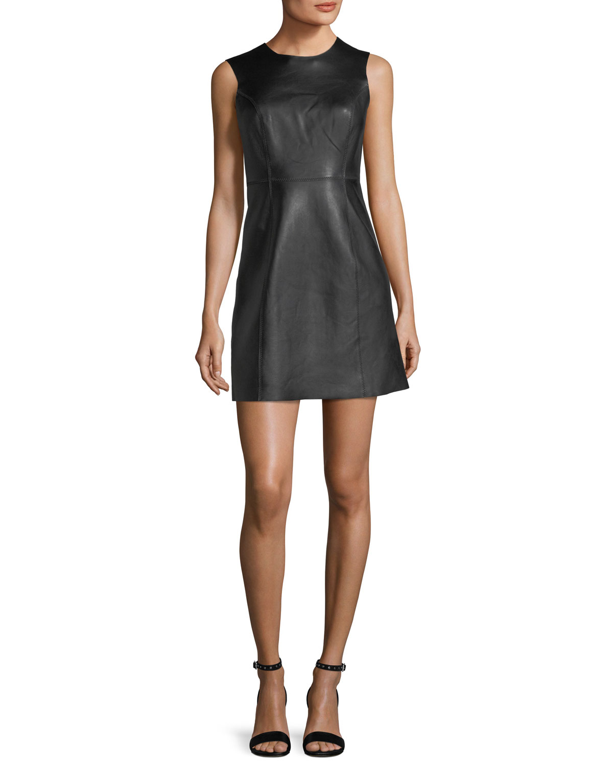 Loxley Sleeveless Leather Mini Dress