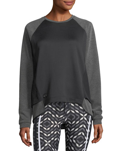 Sal Crewneck Long-Sleeve Lounge Sweater
