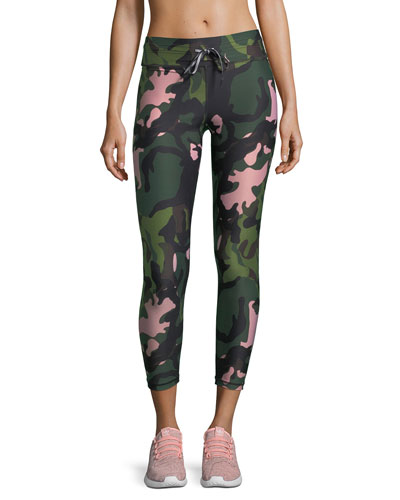 Crystal Camo Drawstring Midi Pants