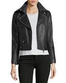 Wes Motorcycle Leather Jacket
