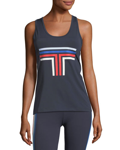 Tory Sport Graphic T Mesh Racerback Tank