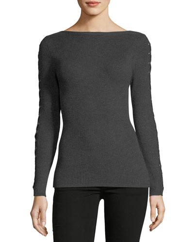 Whipstitch-Trim Sweater
