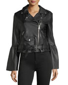 Vegan Leather Biker Jacket