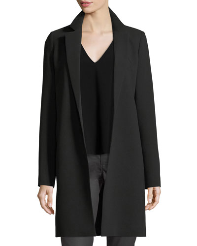 Mattia Notched-Lapel Finesse Crepe Jacket, Plus Size