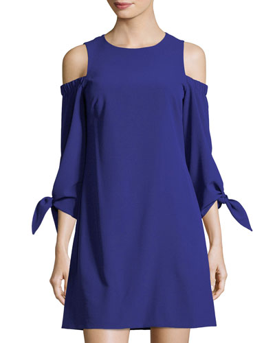 Cold-Shoulder Shift Dress