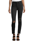 Charlie Distressed Skinny Ankle Jeans
