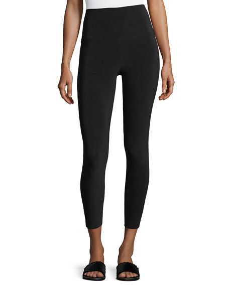 Norma Kamali Cropped High-Waist Leggings