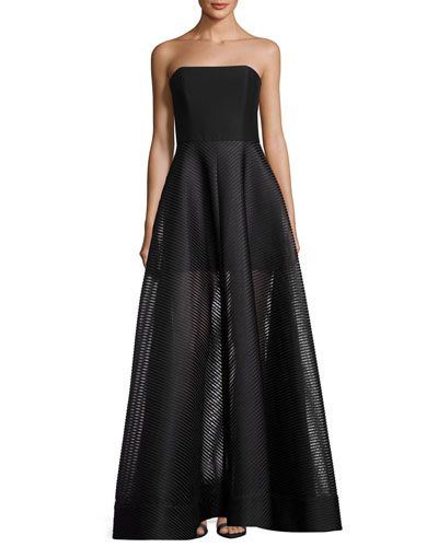 Sheer evening gown neiman marcus quick look junglespirit Gallery