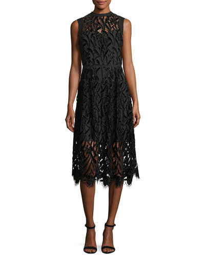 Glengarry Sleeveless Lace illusion Cocktail Dress