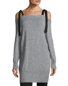 Cashmere-Blend Off-the-Shoulder Sweater