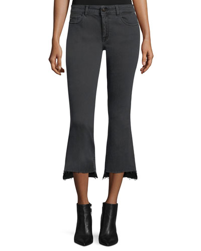 Lara Instasculpt Flare Cropped Jeans in Dusk