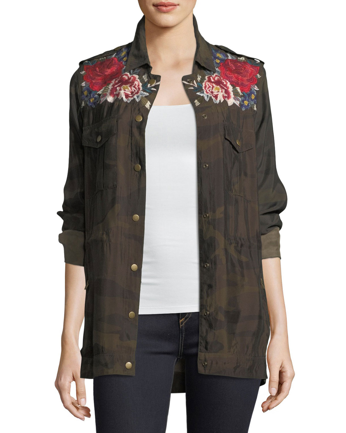 Mica Military Snap-Front Coat