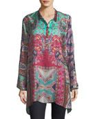Meco Printed Silk Twill Tunic