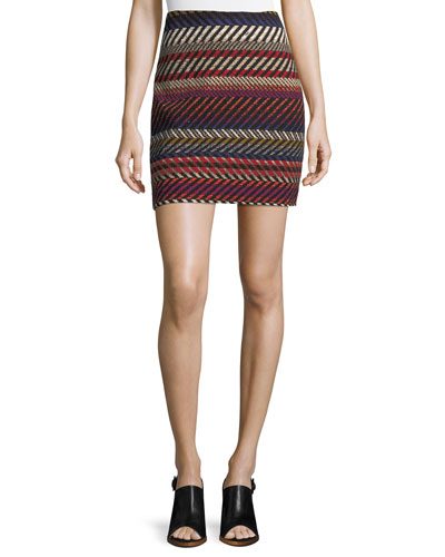 Rico Striped Mini Skirt