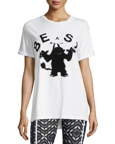 Beast Crewneck Short-Sleeve Relaxed Tee