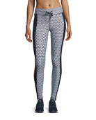 Majestic Monochrome Printed Performance Leggings