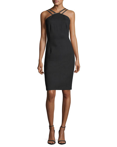 Cisco Halter-Neck Sheath Dress
