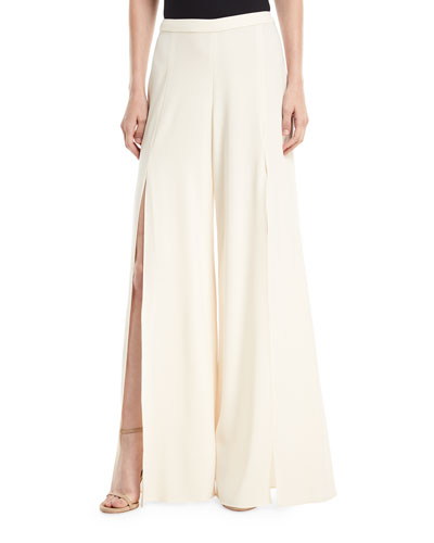 Harlet Wide-Leg Slit Pants