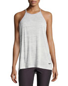 Breathe T-Back Loose Training Performance Tank, Gray