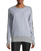 Social Heathered Sweatshirt w/ Mesh