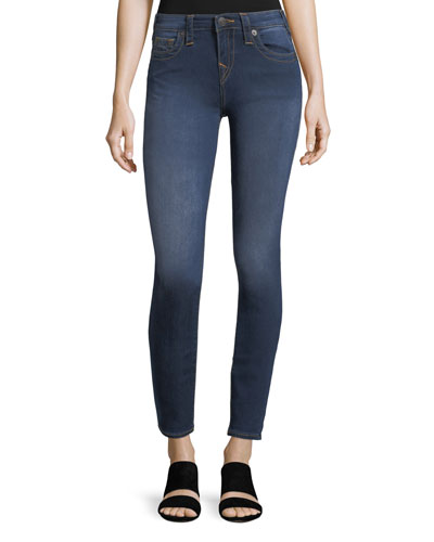 Halle Mid-Rise Super Skinny Jeans