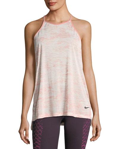 Breathe T-Back Loose Training Performance Tank, Pink